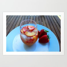 sangria series (#2 - strawberry peach chardonnay) Art Print