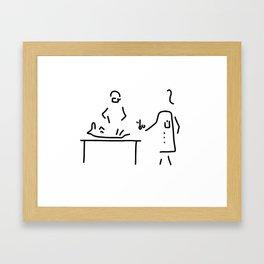 veterinarian veterinary medicine surgeon Framed Art Print