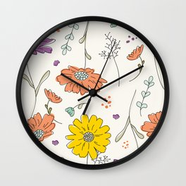 A Walk In The Field Wall Clock