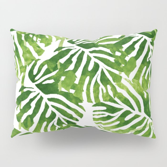 Tropical Leaves - Green Pillow Sham