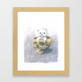 i ated all the brains Framed Art Print