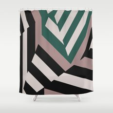 ASDIC/SONAR Dazzle Camouflage Graphic Design Shower Curtain