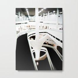 Linhas e Rampas Metal Print