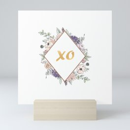 Lettering and Watercolor Flowers #3 Mini Art Print