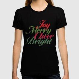 Merry Bright Cheer Joy T-shirt