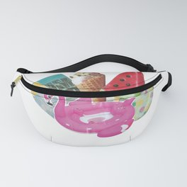 Summer vibe collage Fanny Pack