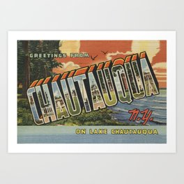 Chautauqua Postcard Bathmat Art Print