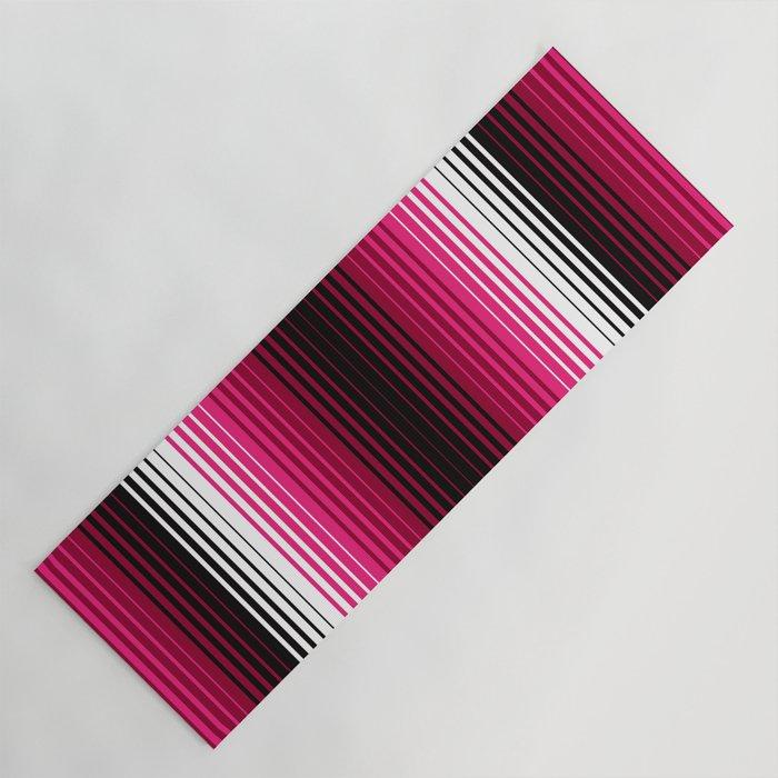 Deconstructed Serape in Magenta Yoga Mat