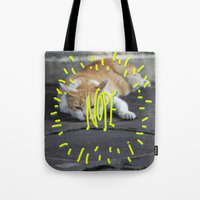 nope Tote Bags featuring Nope. by ma93