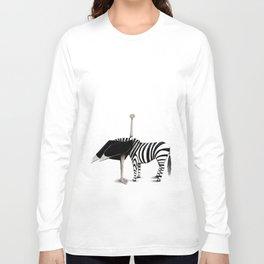 La zebra dal collo di struzzo Long Sleeve T-shirt