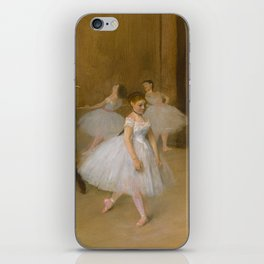 The Dancing Class by Edgar Degas, 1870 iPhone Skin