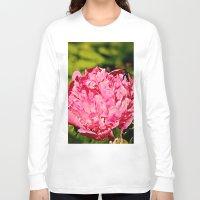 peony Long Sleeve T-shirts featuring Peony by Svetlana Korneliuk