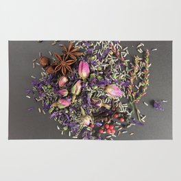 lavender, rose and spices Rug