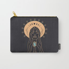 Desert Angel in Peach & Grey Carry-All Pouch