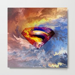 SUPER MANN Metal Print