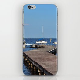 Zig Zag Wooden Pier iPhone Skin