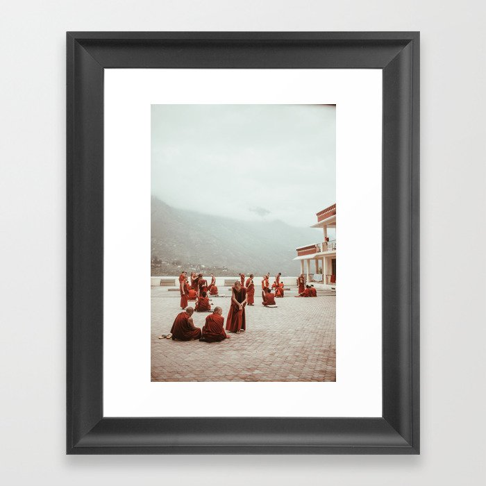 Tibetan Monks Framed Art Print