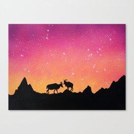 Capricorn Silhouette Canvas Print