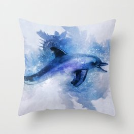 Dolphins Freedom Throw Pillow