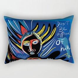 Black Angel Hope and Peace for All Street Art Graffiti Rectangular Pillow