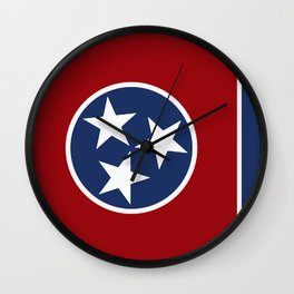 Tennessee: Tennessean Flag Wall Clock