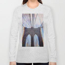 Brooklyn Bridge Abstract Long Sleeve T-shirt