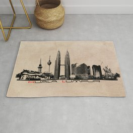 Kuala Lumpur skyline Rug
