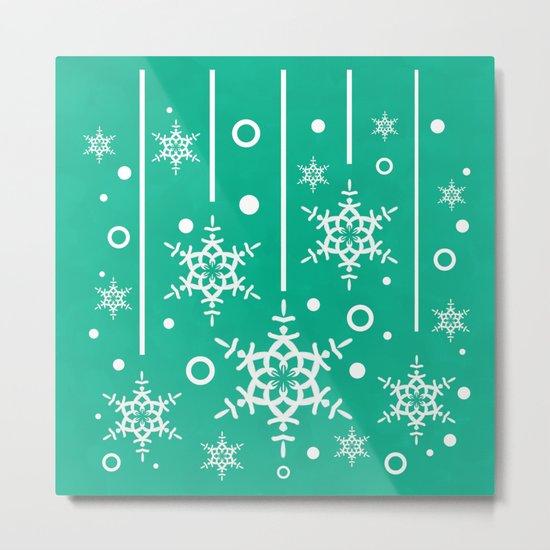 Let it Snow...(Emerald) Metal Print