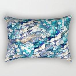 terrazzo turquiose Rectangular Pillow