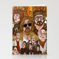 the big lebowski Stationery Cards featuring The Big Lebowski by David Amblard