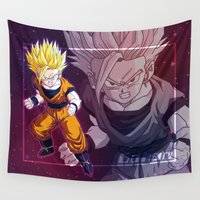 vegeta Wall Tapestries featuring Gohan by Neo Crystal Tokyo