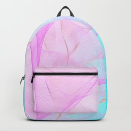 Pastel Motion Vibes - Pink & Turquoise #abstractart #homedecor Backpack
