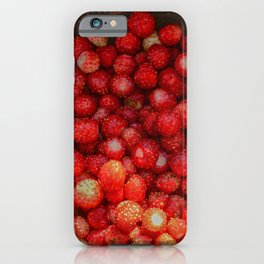 Fresh wild strawberries healthy berry fruit iPhone Case