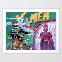 x men Art Prints featuring X-Men! by thechrishaley