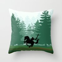 the legend of zelda Throw Pillows featuring Legend Of Zelda by Kesen