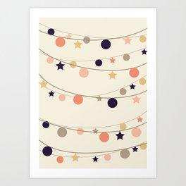 Christmas Garlands Art Print