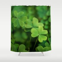 clover Shower Curtains featuring Clover by Michelle McConnell