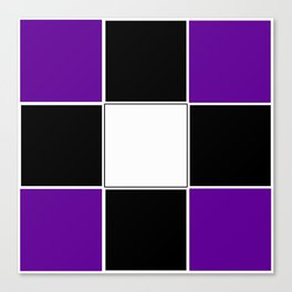 Team Colors 3 ...purple, black and white Canvas Print