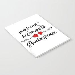 Heart Belongs to Shakespeare 1 Notebook