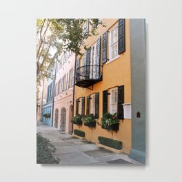 Rainbow Row Metal Print