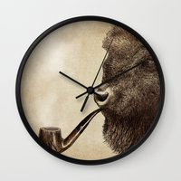 smoke Wall Clocks featuring Big Smoke by Eric Fan