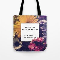 lee pace Tote Bags featuring The Pace Of Nature by Galaxy Eyes