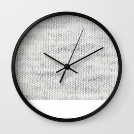 Gray Wool Wall Clock