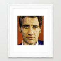 actor Framed Art Prints featuring British Actor by Miguel A. Martin
