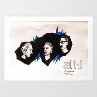 alt j Art Prints featuring Alt-J by Nic Zuhse