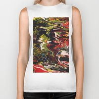 acid Biker Tanks featuring Acid by Jordan Luckow