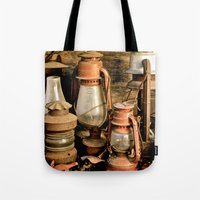 lanterns Tote Bags featuring lanterns by Lisa Carpenter