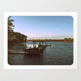 Southern Living - Watercolor, Florida (B&W) Art Print