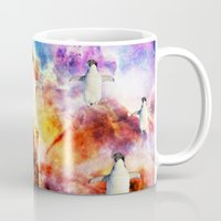 penguins Mugs featuring penguins by haroulita