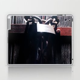 Lock on a heavy door Laptop & iPad Skin